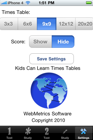 Kids Can Learn Times Tables