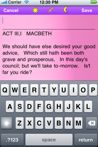 Study Reference Macbeth