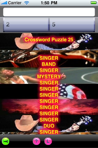 Country Music Crossword